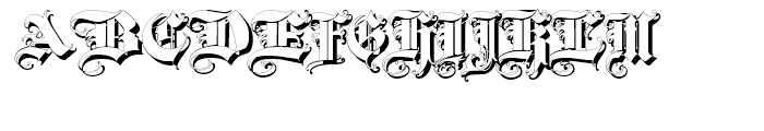 Triball Shadow Font UPPERCASE