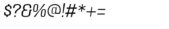 Triump Thin Italic Font OTHER CHARS