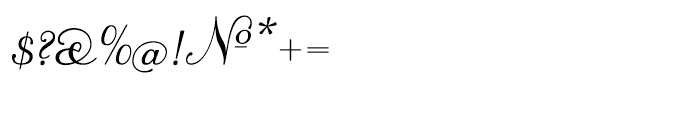 Trocadero Pro Cursive Font OTHER CHARS