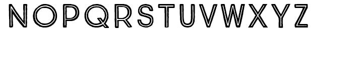 True North Inline Font UPPERCASE