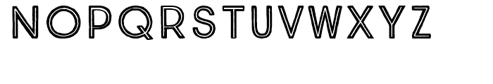 True North Inline Font LOWERCASE