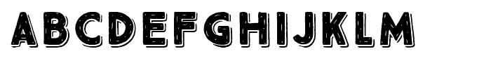True North Rough 3D Black Font UPPERCASE