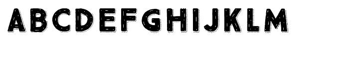 True North Rough Dots Black Font UPPERCASE