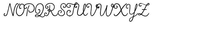 True North Script Font UPPERCASE