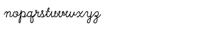 True North Textures Script Font LOWERCASE