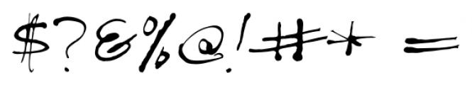 Treefrog Regular Font OTHER CHARS
