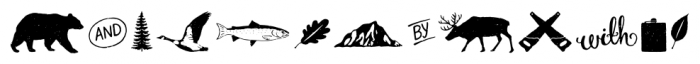 True North Textures Extras Regular Font LOWERCASE