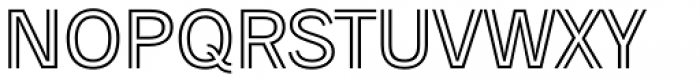 Trade Gothic Inline Light Font LOWERCASE