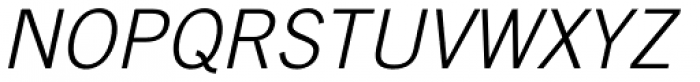 Trade Gothic Light Oblique Font UPPERCASE