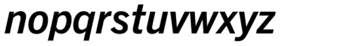 Trade Gothic Next Pro Bold Italic Font LOWERCASE