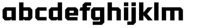 Tradesman Wide Black Font LOWERCASE