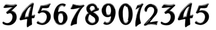 Trailer Park Numerals Font UPPERCASE