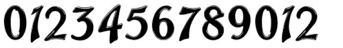 Trailer Park Numerals Font LOWERCASE