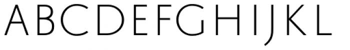 Trajana Sans Light Font UPPERCASE