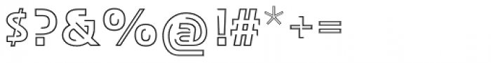 TransRim Display Regular Font OTHER CHARS