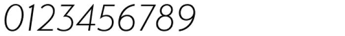 Transat Light Oblique Font OTHER CHARS