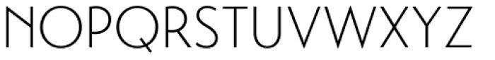 Transat Light Font UPPERCASE