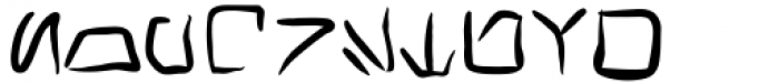 Transdoshan Scratch Medium Font UPPERCASE