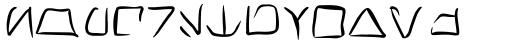 Transdoshan Scratch Medium Font LOWERCASE