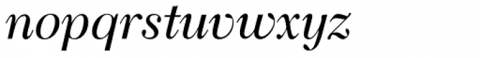 Transitional 511 Italic Font LOWERCASE