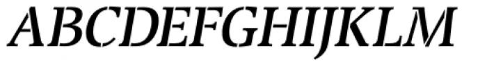 Transport Italic Font UPPERCASE