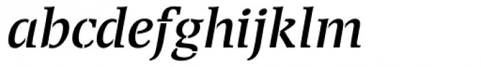 Transport Italic Font LOWERCASE