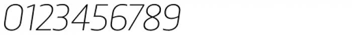 Trasandina Thin Italic Font OTHER CHARS
