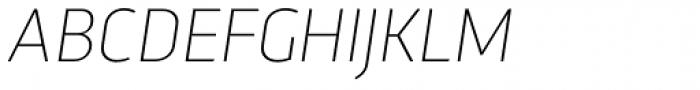 Trasandina Thin Italic Font UPPERCASE