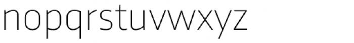 Trasandina Thin Font LOWERCASE