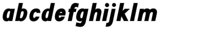 Travis ExtraBold Italic Font LOWERCASE