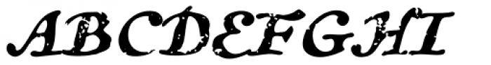 Treasure Trove Aged Italic Font UPPERCASE