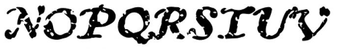 Treasure Trove Decayed Italic Font UPPERCASE