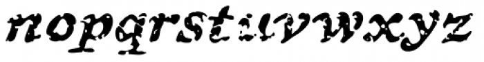 Treasure Trove Decayed Italic Font LOWERCASE