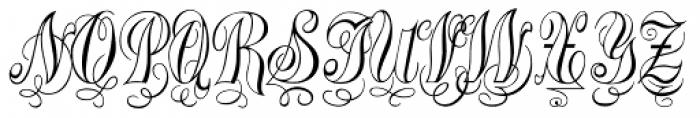 Treasury Silver Font UPPERCASE