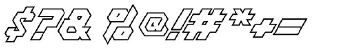 Treble Outline Font OTHER CHARS