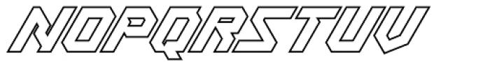 Treble Outline Font UPPERCASE