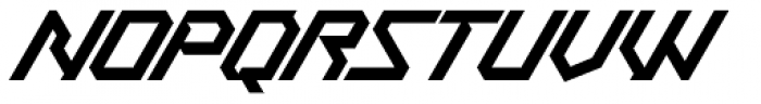 Treble Regular Font UPPERCASE