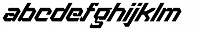 Treble Regular Font LOWERCASE