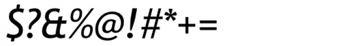 Trebuchet Italic Font OTHER CHARS