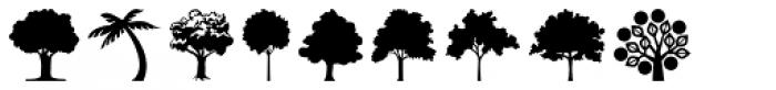 Tree Assortment Font UPPERCASE