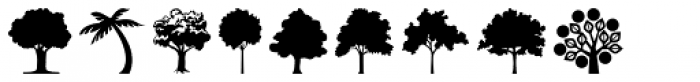 Tree Assortment Font LOWERCASE