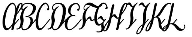 Treehouse Oblique Font UPPERCASE