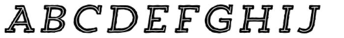 Trend HM Slab Five Italic Font UPPERCASE