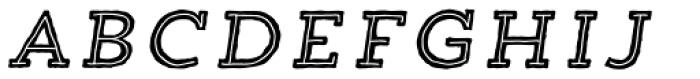 Trend HM Slab Five Italic Font LOWERCASE