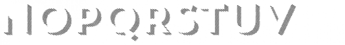 Trend Rough Sans Three Font UPPERCASE