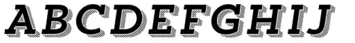 Trend Slab Four Italic Font UPPERCASE