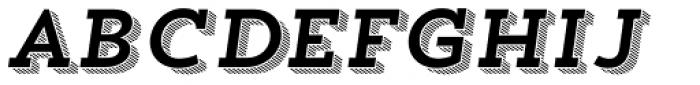 Trend Slab Four Italic Font LOWERCASE