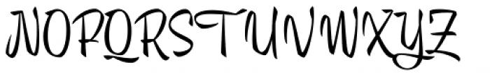 Trendy Display Font UPPERCASE
