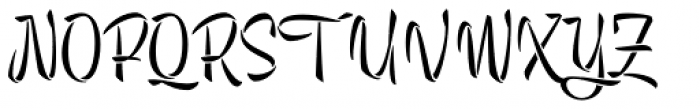 Trendy Stencil Font UPPERCASE