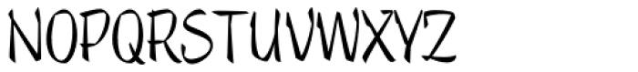 Trendy Text Regular Font UPPERCASE